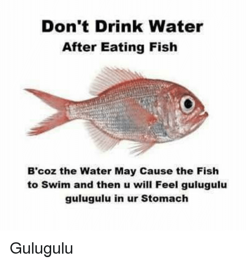 dont drink water after eating fish bcoz the water may 6737542 don't drink water after eating fish b'coz the water may cause the