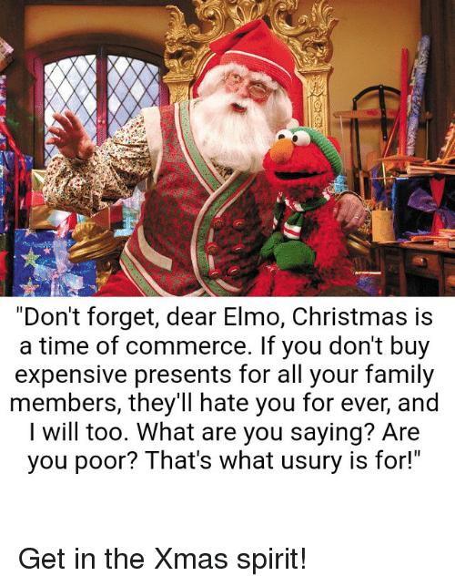 "Christmas, Elmo, and Family: ""Don't forget, dear Elmo,"