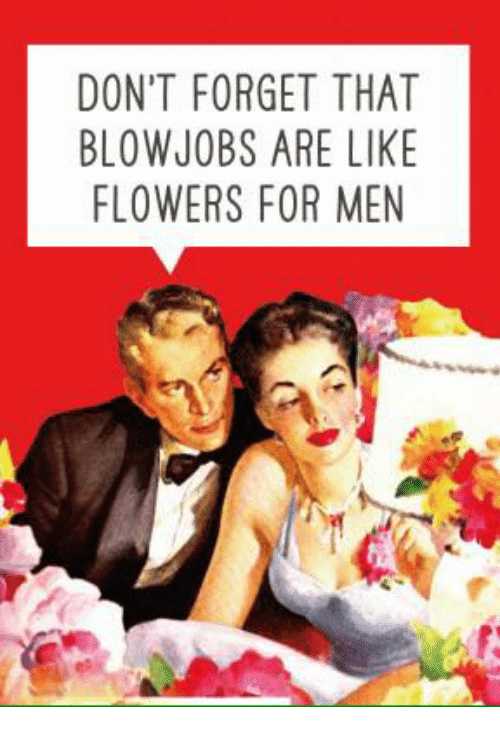 DON'T FORGET THAT BLOW JOBS ARE LIKE FLOWERS FOR MEN | Meme