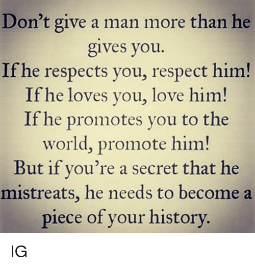 If a guy respects you does he like you