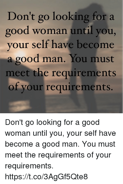 Meeting a good man