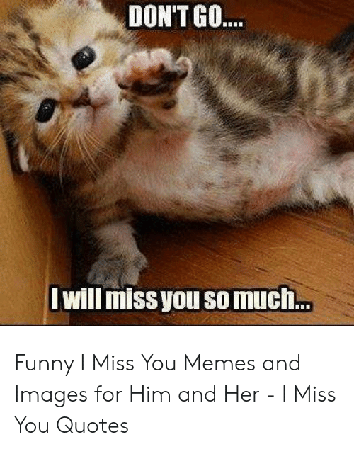 DON\'T GO Will Missyou Somuch Funny I Miss You Memes and ...