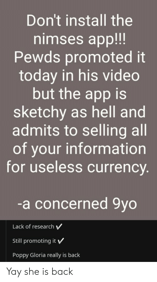 Don't Install the Nimses App!!! Pewds Promoted It Today in