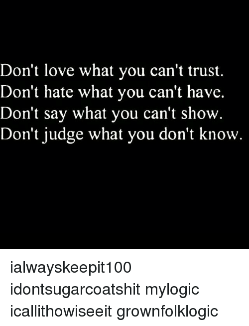 can t trust
