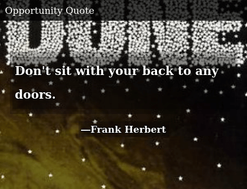 SIZZLE: Don't sit with your back to any doors.