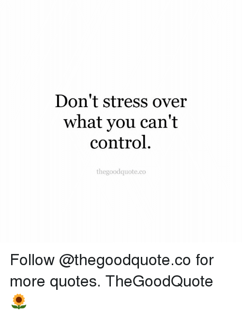Don\'t Stress Over What You Can\'t Control Thegoodquoteco ...