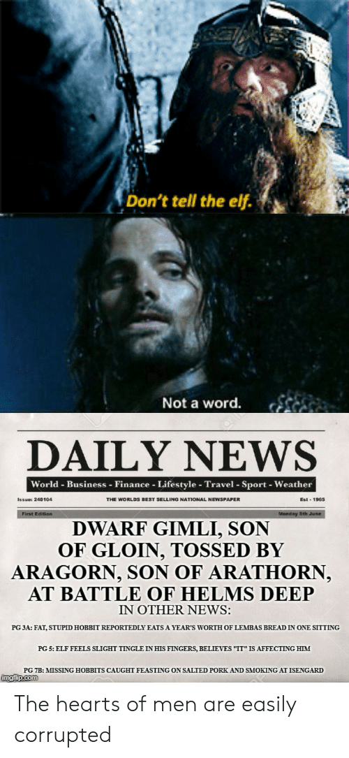 Don't Tell the Elf Not a Word DAILY NEWS World Business