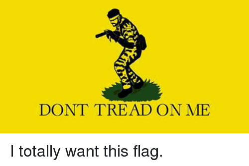 DON'T TREAD ON ME I Totally Want This Flag | Meme on SIZZLE