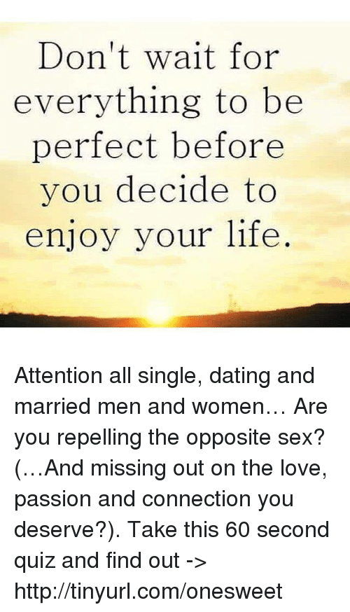 How to enjoy dating a married man