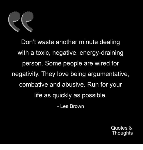 Don't let anyone's negative energy drain you | Popular ... |Energy Draining People