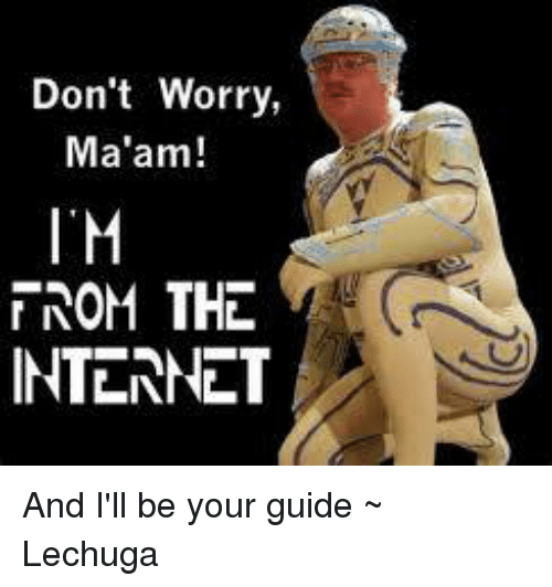 don t worry ma am i m nom the internet and i ll be your guide