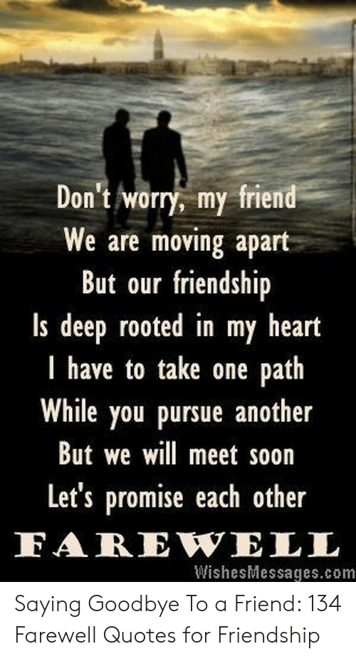 Don\'t Worry My Friend We Are Moving Apart but Our Friendship ...