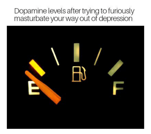 Depression, Dopamine, and  Way: Dopamine levels after trying to furiously  masturbate your way out of depression