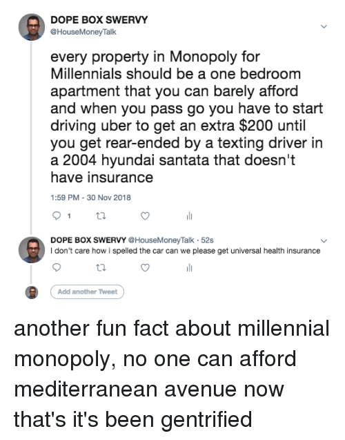 Dope Box Swervy Every Property In Monopoly For Millennials Should Be