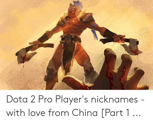 Dota 2 Pro Player's Nicknames - With Love From China Part 1 | Love