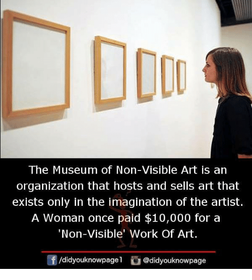 dou the museum of non visible art is an organization that hosts and