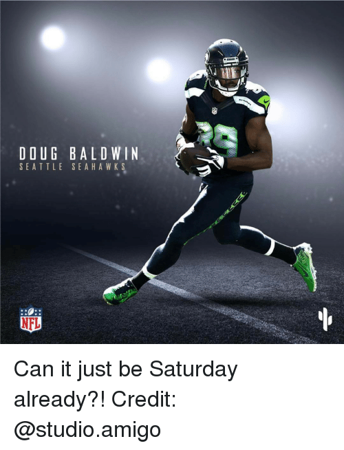 online retailer 75e8f 1f01f DOUG BALDWIN SEATTLE SEA HAWK S NFL Can It Just Be Saturday ...