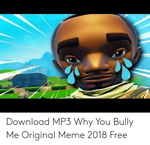 Download MP3 Why You Bully Me Original Meme 2018 Free | Meme
