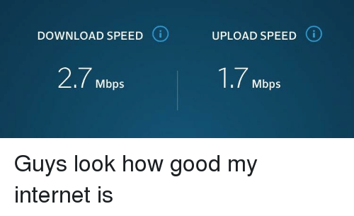 good internet download speed and upload speed