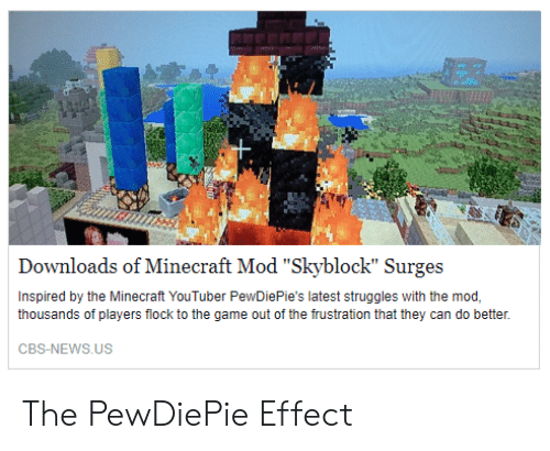 Downloads of Minecraft Mod Skyblock Surges Inspired by the