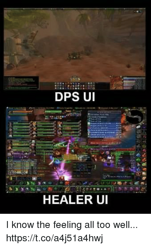 DPS U HEALER UI I Know the Feeling All Too Well