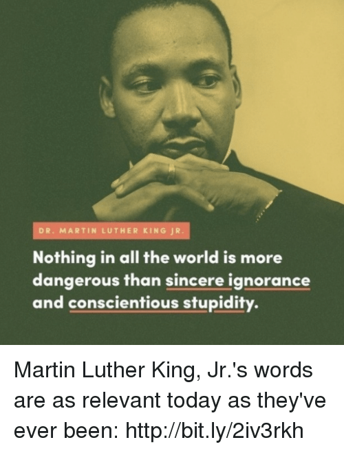Dr Martin Luther King Jr Nothing In All The World Is More Dangerous