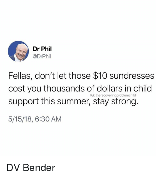 Dr Phil Fellas Don't Let Those $10 Sundresses Cost You
