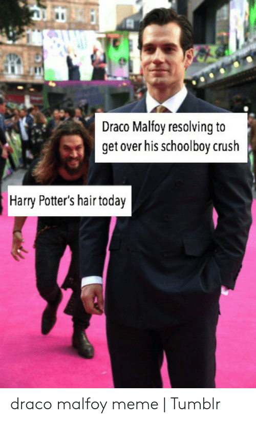 Draco Malfoy Resolvina to Get Over His Schoolboy Crush Harry