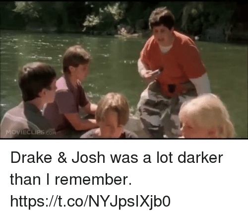 Drake, Funny, and Amp: Drake & Josh was a lot darker than I remember. https://t.co/NYJpsIXjb0