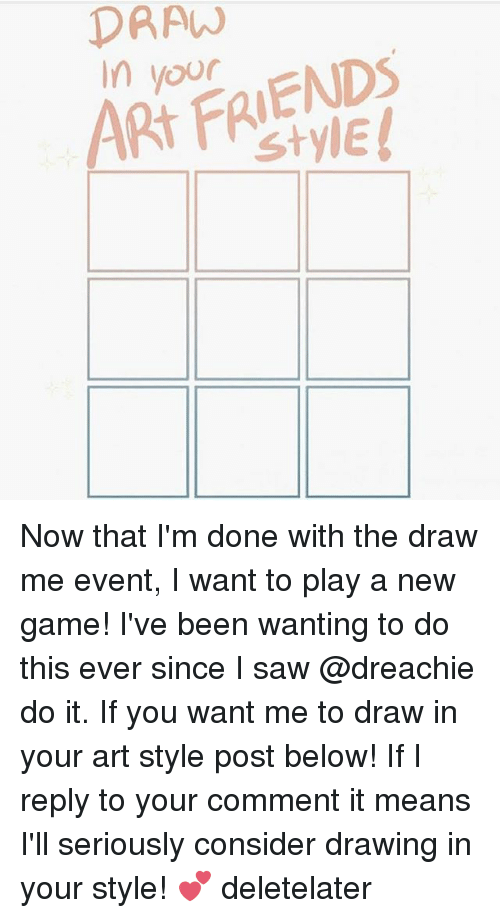 Draw Art Friends In Now That I M Done With The Draw Me Event I Want