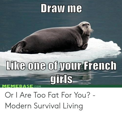 Draw L6 Like One Otyour French MEMEBASECOM or I Are Too Fat for You