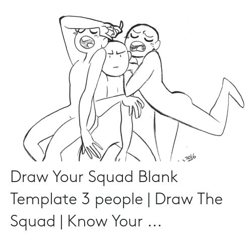 Draw Your Squad Blank Template 3 People | Draw the Squad