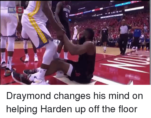 Mind, Harden, and Helping: Draymond changes his mind on helping Harden up off the floor