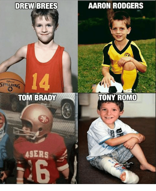 San Francisco 49ers, Aaron Rodgers, and Memes: DREW BREES  LDING  TOM BRADY  49ERS  AARON RODGERS  TONY ROMO