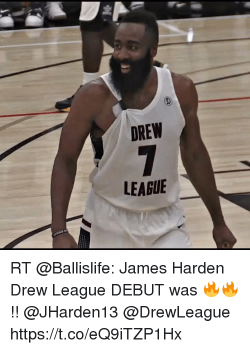 Sizzle: DREW  LEAGUE RT @Ballislife: James Harden Drew League DEBUT was 🔥🔥!! @JHarden13 @DrewLeague https://t.co/eQ9iTZP1Hx