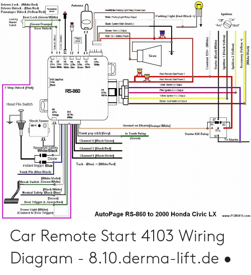 2008 Honda Civic Remote Start Wiring Diagram