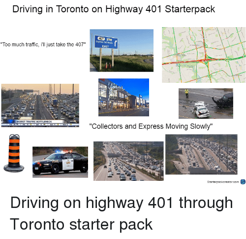 Driving in Toronto on Highway 401 Starterpack 2TR Express Tol Route