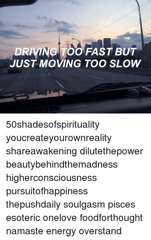 is it moving too fast