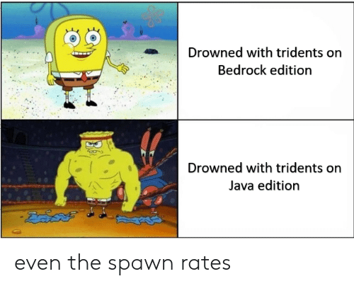 Drowned With Tridents on Bedrock Edition Drowned With