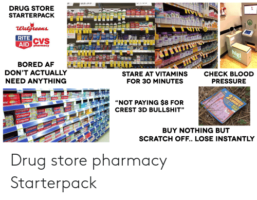 drug store starterpack rite aid cvs pharmacy hp gi don u0026 39 t actually need anything stare at