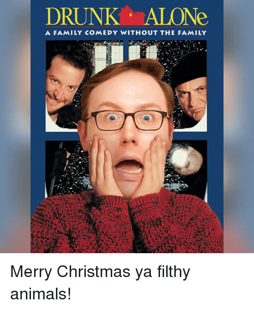 Drunk Alone A Family Comedy Without The Family Merry Christmas Ya