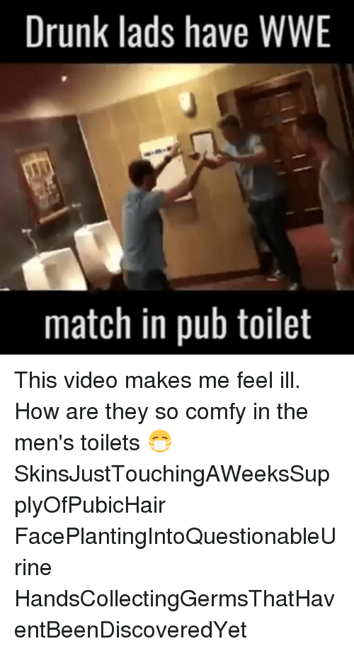 Drunk Lads Have WWE Match in Pub Toilet This Video Makes Me