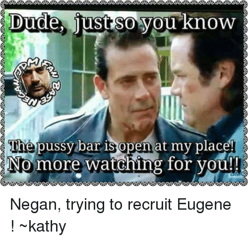 no more pussy for you