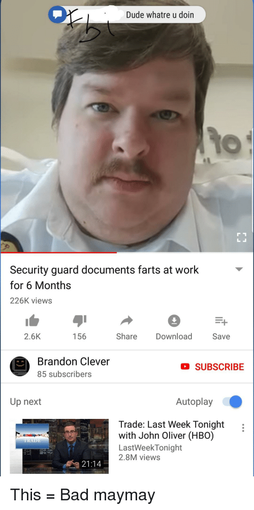 Security Guard Documents Farts