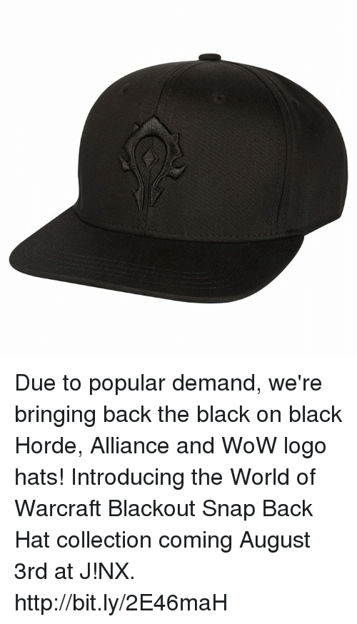 919a9ae691f Due to Popular Demand We re Bringing Back the Black on Black Horde ...