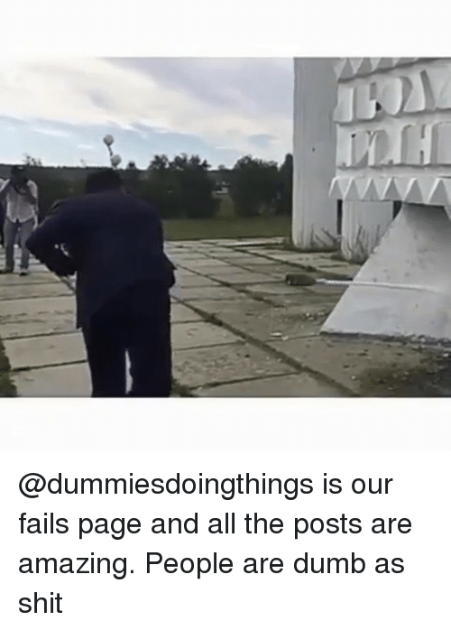 Dumb, Shit, and Dank Memes: @dummiesdoingthings is our fails page and all the posts are amazing. People are dumb as shit