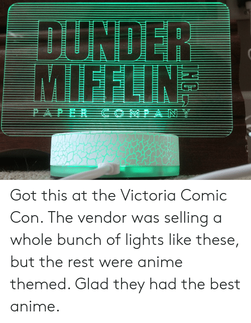 DUNDER MIFFLIN Got This at the Victoria Comic Con the Vendor