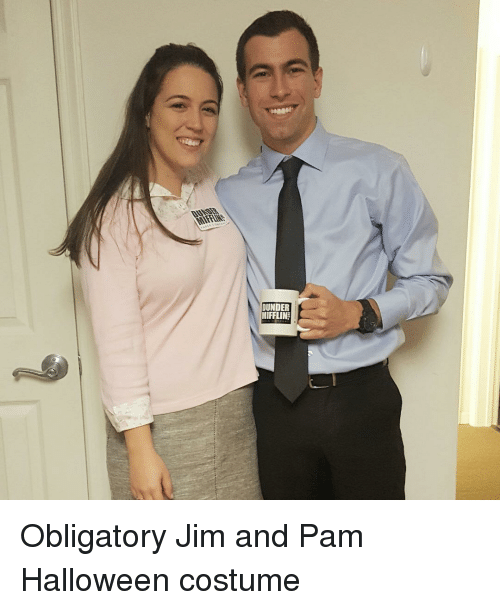 DUNDER MIFFLIN Obligatory Jim And Pam Halloween Costume ...