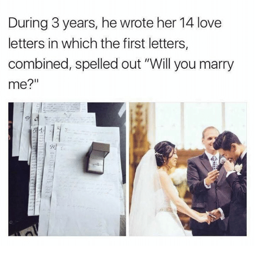 marry me letters