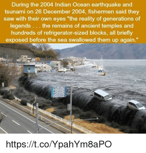 During the 2004 Indian Ocean Earthquake and Tsunami on 26 December